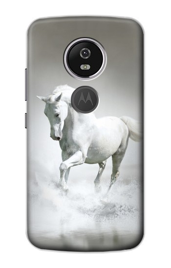 Printed White Horse Motorola Moto E5 Plus Case
