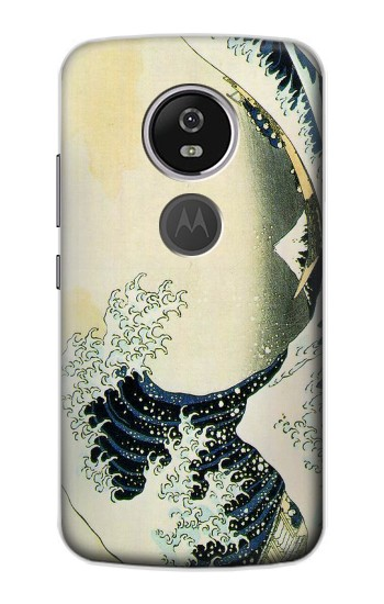 Printed Katsushika Hokusai The Great Wave of Kanagawa Motorola Moto E5 Plus Case