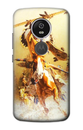 Printed Red Indian Warrior Motorola Moto E5 Plus Case