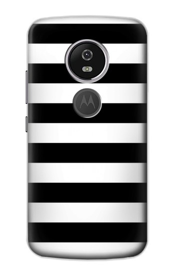 Printed Black and White Striped Motorola Moto E5 Plus Case