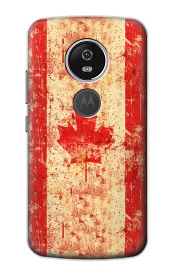 Printed Canada Flag Old Vintage Motorola Moto E5 Plus Case