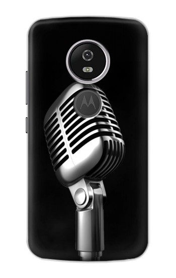 Printed Retro Microphone Jazz Music Motorola Moto E5 Plus Case