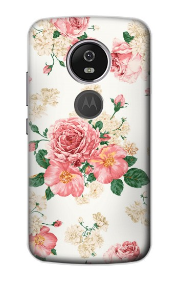 Printed Rose Pattern Motorola Moto E5 Plus Case