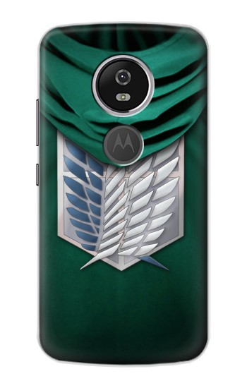 Printed Attack on Titan Scouting Legion Rivaille Green Cloak Motorola Moto E5 Plus Case