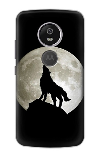 Printed Wolf Howling at The Moon Motorola Moto E5 Plus Case