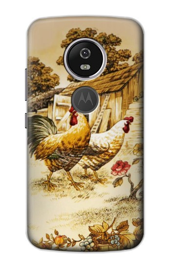 Printed French Country Chicken Motorola Moto E5 Plus Case