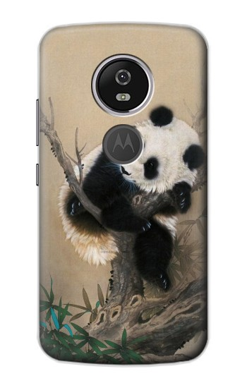 Printed Panda Fluffy Art Painting Motorola Moto E5 Plus Case