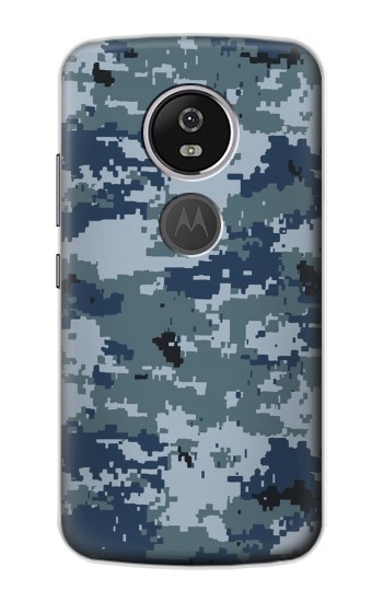 Printed Navy Camo Camouflage Graphic Motorola Moto E5 Plus Case