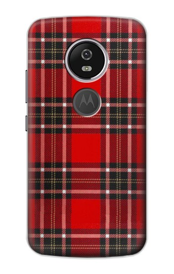 Printed Tartan Red Pattern Motorola Moto E5 Plus Case