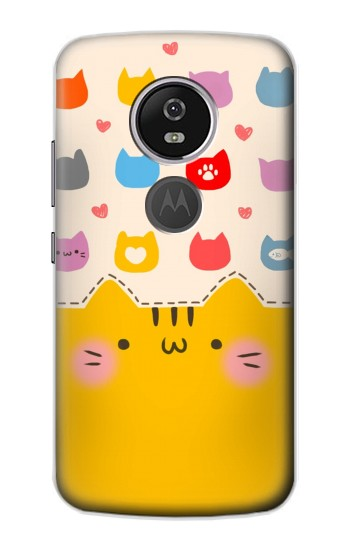 Printed Cute Cat Pattern Motorola Moto E5 Plus Case