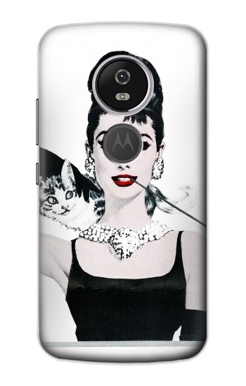 Printed Audrey Hepburn Breakfast at Tiffany Motorola Moto E5 Plus Case
