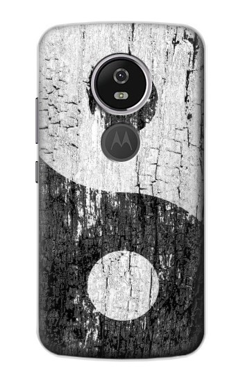 Printed Yin Yang Wood Motorola Moto E5 Plus Case