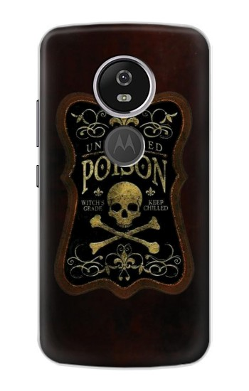 Printed Unfiltered Poison Vintage Glass Bottle Motorola Moto E5 Plus Case