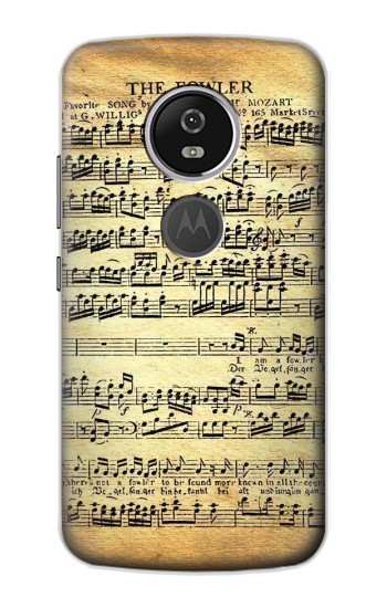Printed The Fowler Mozart Music Sheet Motorola Moto E5 Plus Case