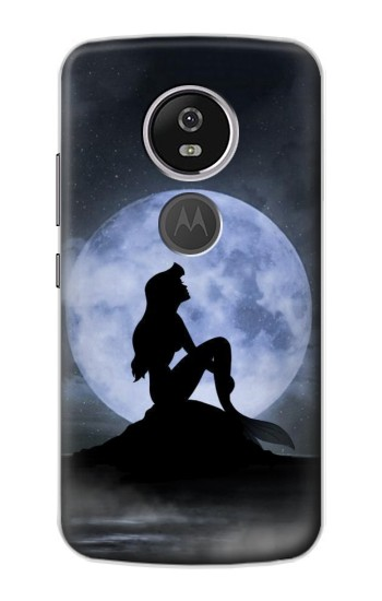 Printed Mermaid Moon Night Motorola Moto E5 Plus Case