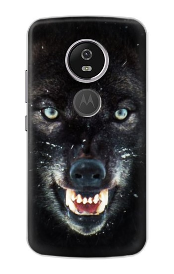 Printed Black Wolf Blue Eyes Face Motorola Moto E5 Plus Case