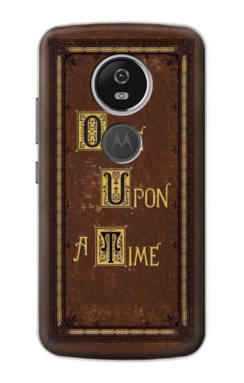 Printed Once Upon a Time Book Cover Motorola Moto E5 Plus Case