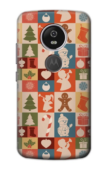 Printed Cute Xmas Pattern Motorola Moto E5 Plus Case