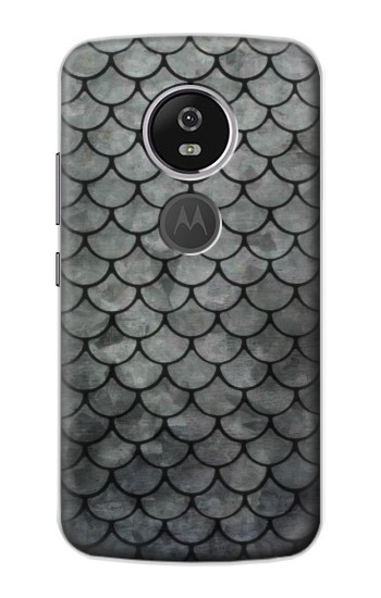 Printed Silver Fish Scale Motorola Moto E5 Plus Case