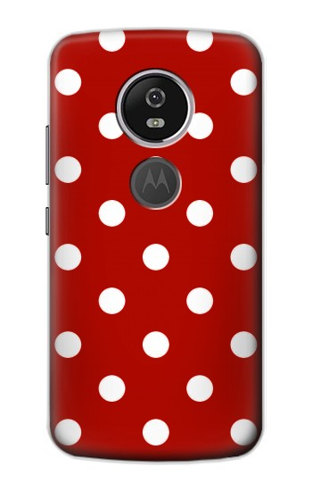 Printed Red Polka Dots Motorola Moto E5 Plus Case