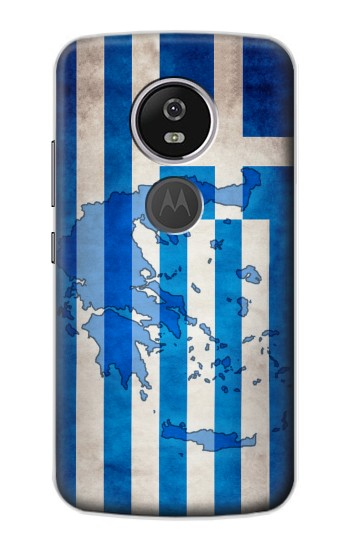 Printed Greece Map Flag Motorola Moto E5 Plus Case