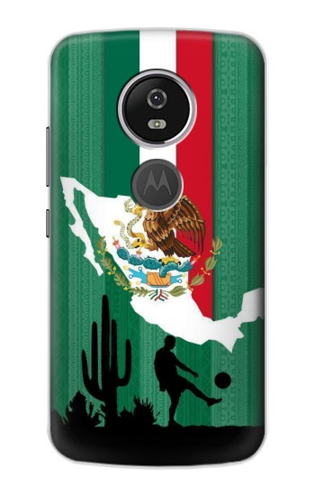 Printed Mexico Football Flag Motorola Moto E5 Plus Case