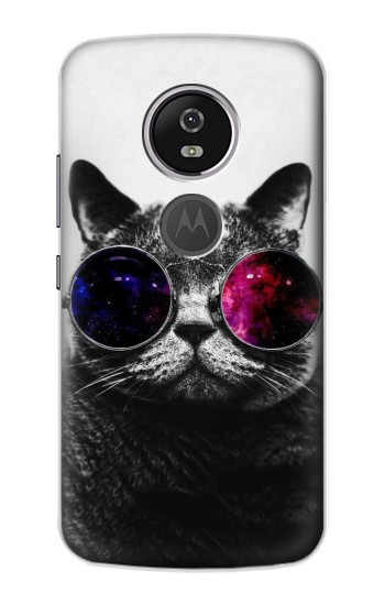 Printed Cool Cat Glasses Motorola Moto E5 Plus Case