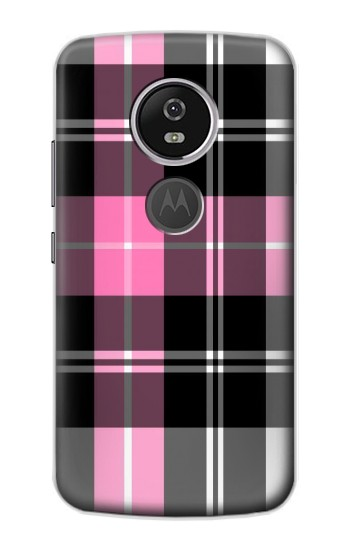 Printed Pink Plaid Pattern Motorola Moto E5 Plus Case