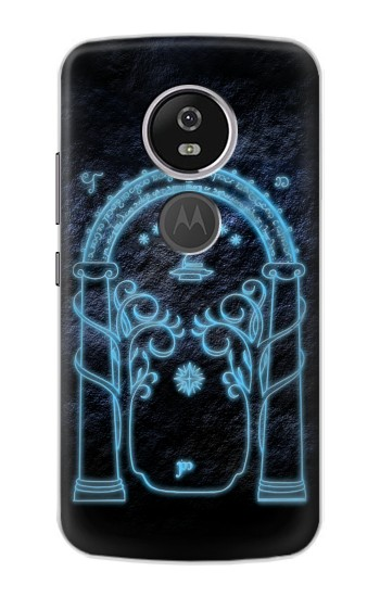Printed Lord of The Rings Mines of Moria Gate Motorola Moto E5 Plus Case