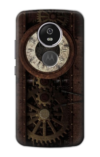 Printed Steampunk Clock Gears Motorola Moto E5 Plus Case