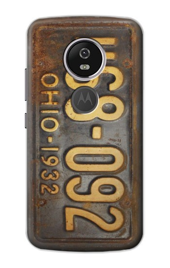 Printed Vintage Car License Plate Motorola Moto E5 Plus Case