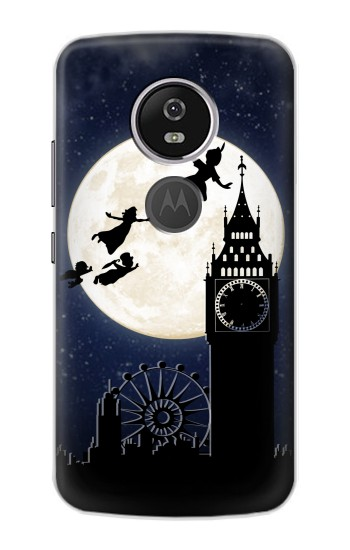 Printed Peter Pan Fly Fullmoon Night Motorola Moto E5 Plus Case
