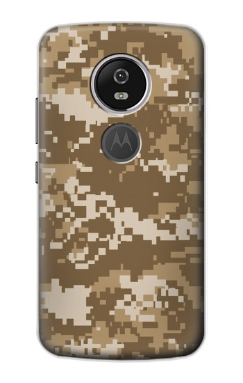 Printed Army Camo Tan Motorola Moto E5 Plus Case