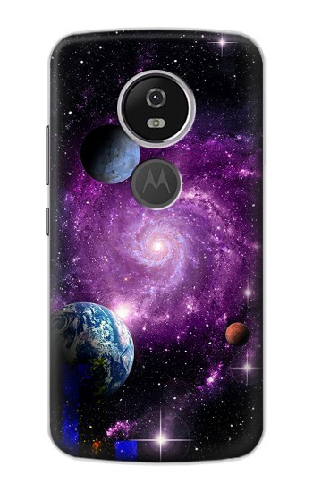 Printed Galaxy Outer Space Planet Motorola Moto E5 Plus Case