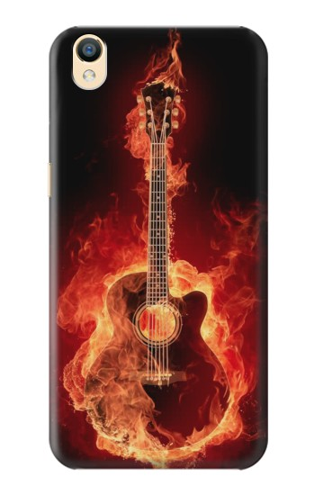 Printed Fire Guitar Burn OnePlus One Case