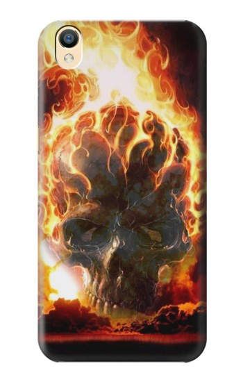 Printed Hell Fire Skull OnePlus One Case