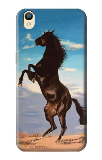 Printed Wild Black Horse OnePlus One Case