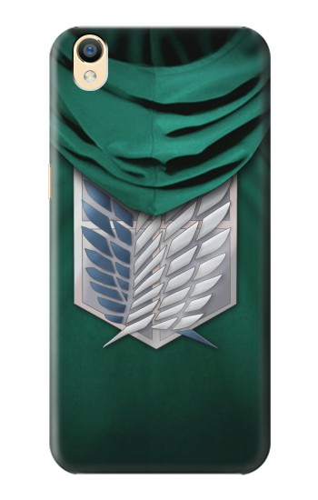 Printed Attack on Titan Scouting Legion Rivaille Green Cloak OnePlus One Case