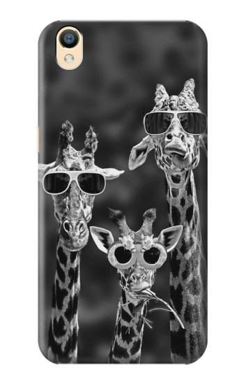 Printed Giraffes With Sunglasses OnePlus One Case