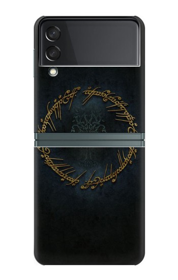 Printed Lord of The Rings Ring Elf Writing Samsung Galaxy Z Flip3 5G Case