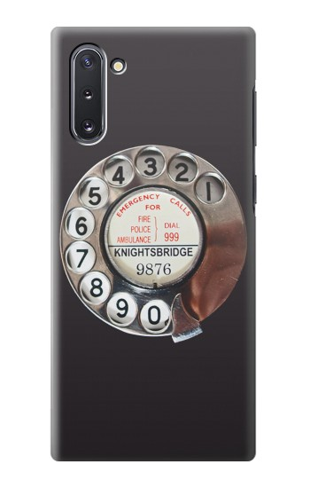 Printed Retro Rotary Phone Dial On Samsung Galaxy Note 10 Case