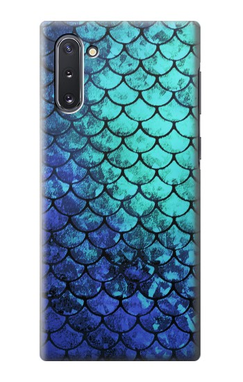 Printed Green Mermaid Fish Scale Samsung Galaxy Note 10 Case