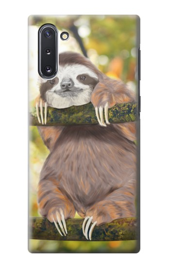Printed Cute Baby Sloth Paint Samsung Galaxy Note 10 Case