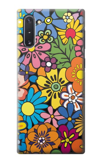 Printed Colorful Flowers Pattern Samsung Galaxy Note 10 Case