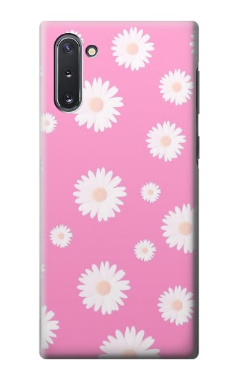 Printed Pink Floral Pattern Samsung Galaxy Note 10 Case
