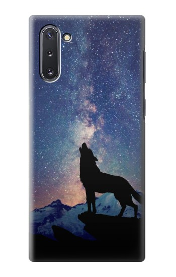 Printed Wolf Howling Million Star Samsung Galaxy Note 10 Case