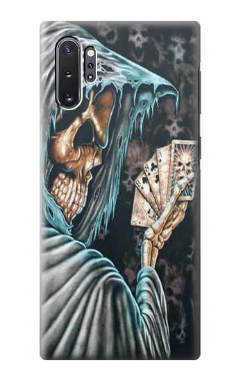 Printed Grim Reaper Death Poker Samsung Galaxy Note 10 Plus Case