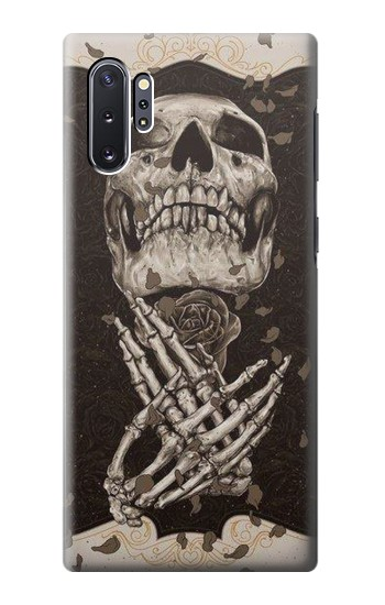 Printed Skull Rose Samsung Galaxy Note 10 Plus Case