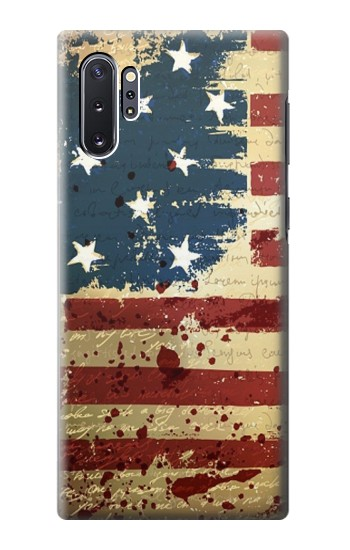 Printed Old American Flag Samsung Galaxy Note 10 Plus Case