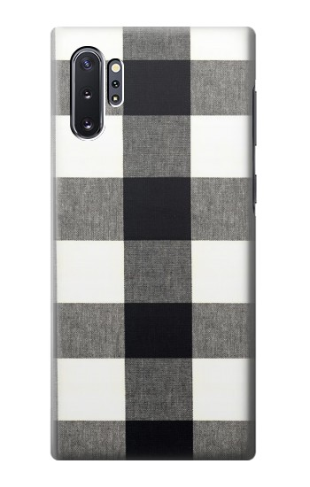 Printed Black and White Buffalo Check Pattern Samsung Galaxy Note 10 Plus Case